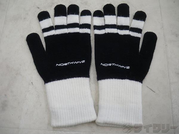 手袋 ブラック/ホワイト サイズ不明