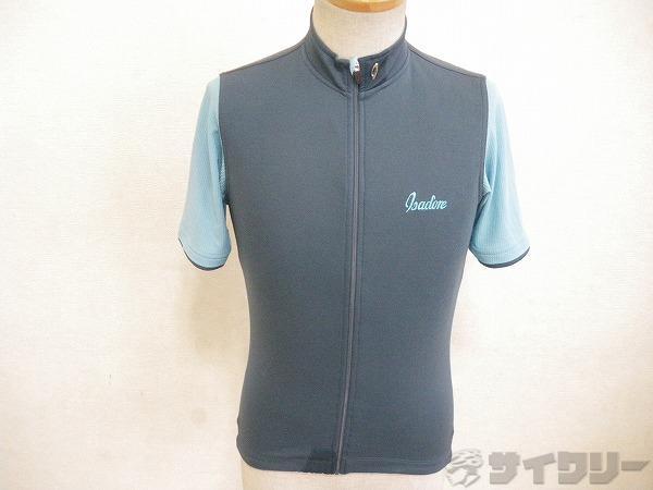 半袖ジャージ Signature Cycling Jersey グレー/グリーン XSサイズ