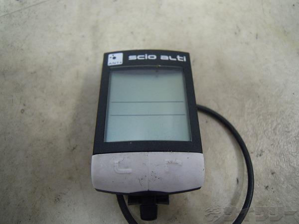 サイクルコンピューター SCIO ALTI 本体のみ ANT+ 電池欠品