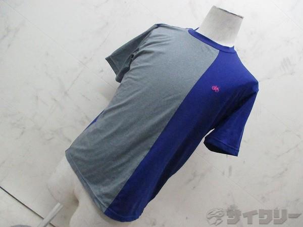 半袖サイクルシャツ グレー/パープル サイズ:M