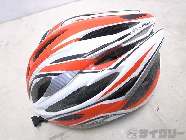 ヘルメット FIGO 2014年モデル M/Lサイズ ホワイト/レッド