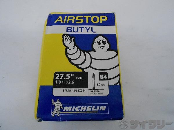 チューブ  AIRSTOP BUTYL 27.5 48/62x584 60mm