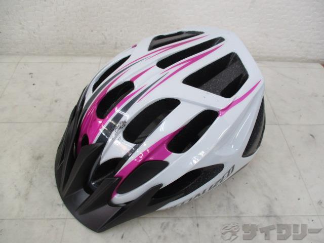 ヘルメット ホワイト/ピンク サイズ・年式不明 女性用
