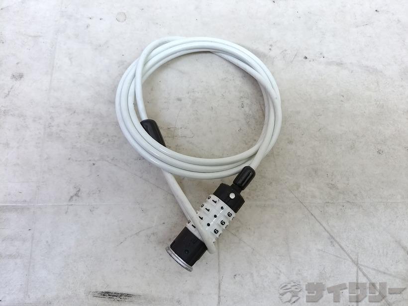 ワイヤーロック 1700mm ナンバー式 ホワイト