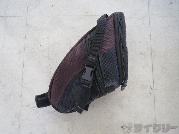 サドルバッグ エアロウェッジパック Lサイズ ストラップマウント ブラック