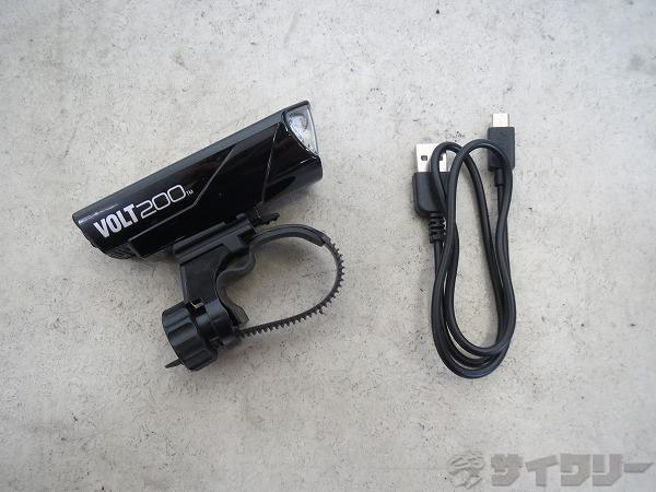 フロントライト VOLT200 HL-EL151RC USB充電用ケーブル付属 ブラック