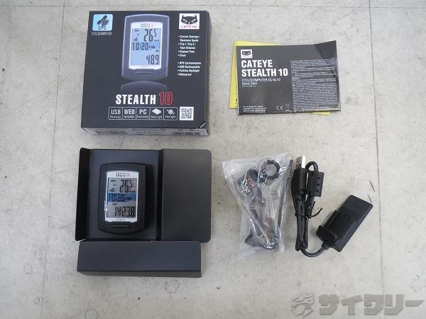 サイクルコンピュータ STEALTH10 CC-GL10 ブラック ※動作確認済み