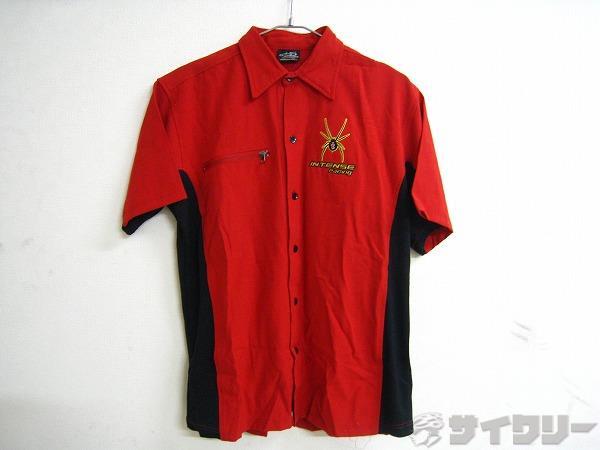 半袖シャツ レッド/ブラック サイズ:S/P