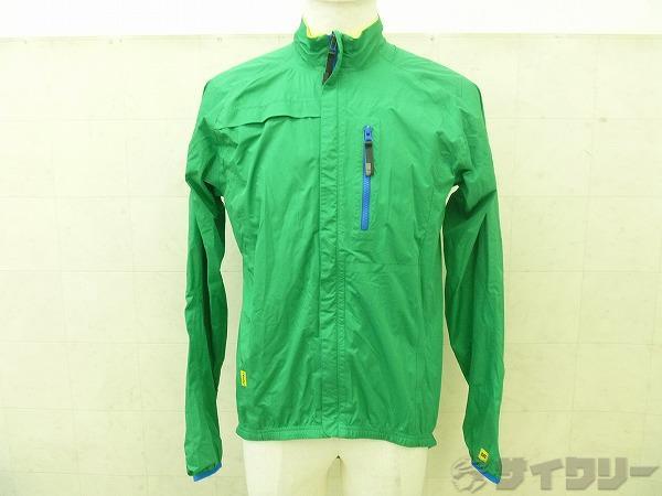 レインジャケット NOTCH H20 Lサイズ グリーン
