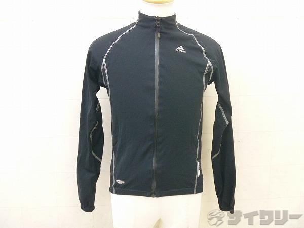 フルジップ長袖ジャケット Lサイズ ブラック