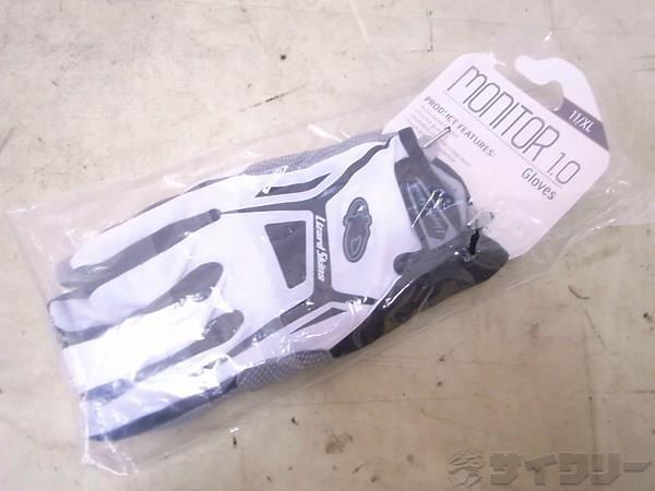 フルフィンガーグローブ MONITER 1.0 XLサイズ ホワイト/ブラック