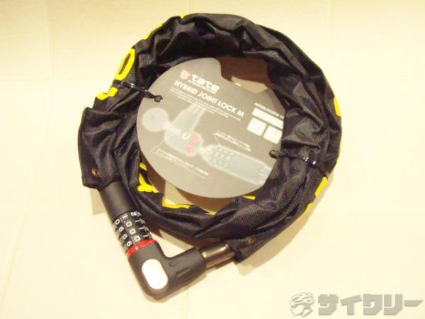 ハイブリッドジョイントロック M 18x1200mm カギ式/暗証番号式 ブラック/ゴールド