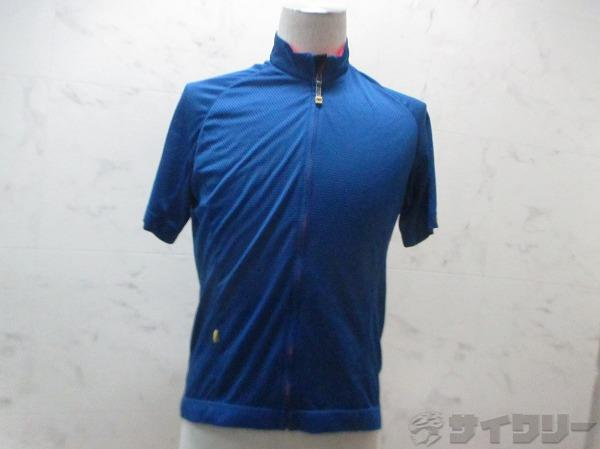 半袖フルジップジャージ ブルー サイズ:JAPAN O