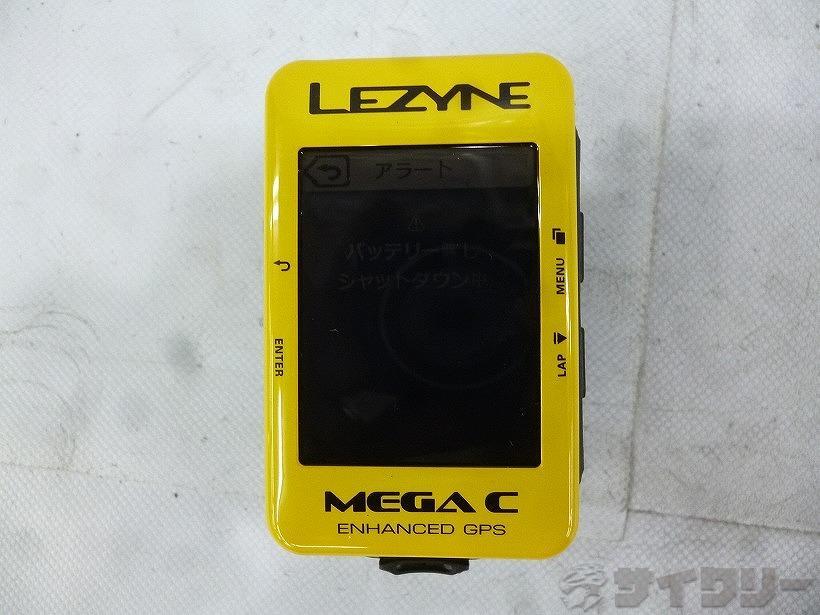 サイクルコンピューター MEGA C GPS イエロー ※本体のみ、動作未確認