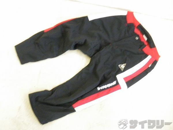 サイクリング3/4パンツ QC-351113 Lサイズ ブラック/レッド/ホワイト
