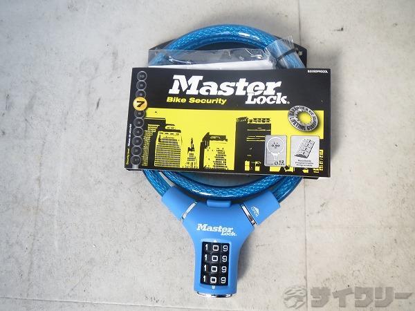 ワイヤーロック ML-8229 Φ12x90cm 4桁リセッタブルダイヤル式 ブルー