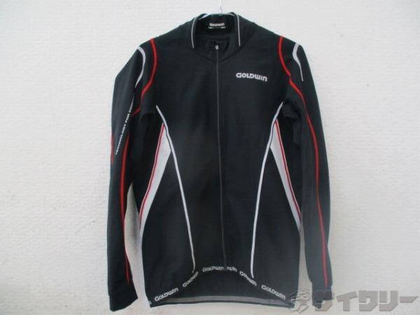 長袖フルジップジャケット XLサイズ ブラック