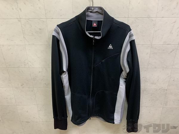 長袖フルジップジャケット Oサイズ ブラック