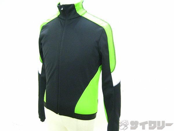 長袖ジャケット 裏起毛 Mサイズ ブラック/グリーン