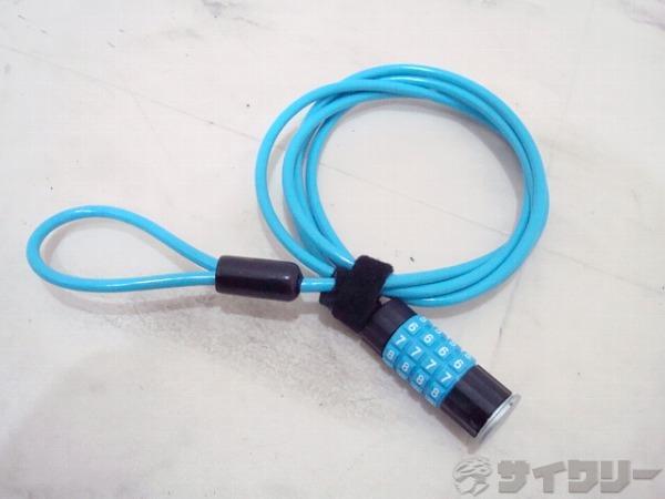 ダブルループワイヤーロック ブルー 180cm ダイヤル式