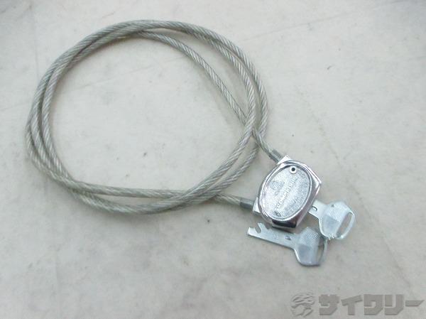 ワイヤーロック クリア 鍵2本