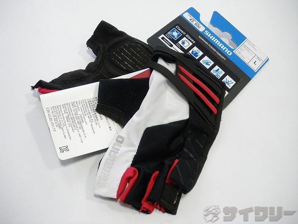 グローブ Classic Gloves ブラック/ホワイト/レッド Lサイズ