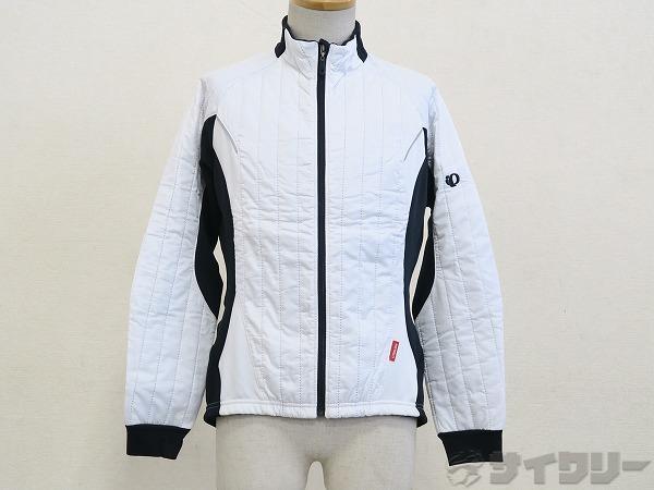 欠品・汚有 長袖フルジップジャケット ホワイト サイズ:L