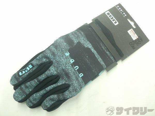 フルフィンガーグローブ DUDE Mサイズ ブラック/ライトブルー