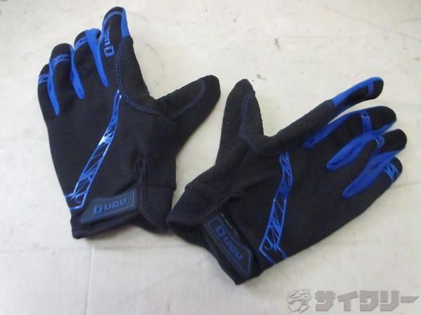 フルフィンガーグローブ サイズ:M ブルー/ブラック