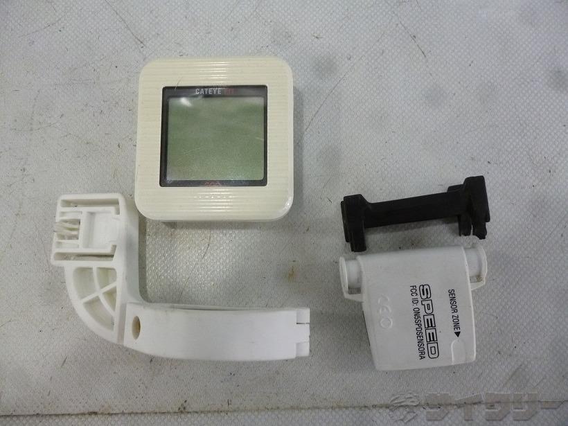 万歩計付きサイクルコンピューター CC-PD100W FIT ホワイト