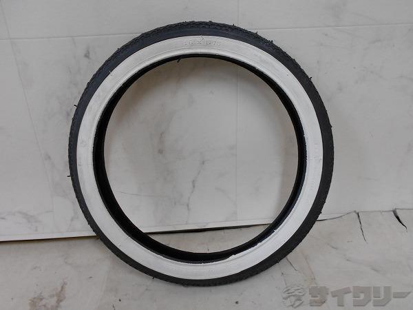 タイヤ 16x1.75 ブラック/ホワイト