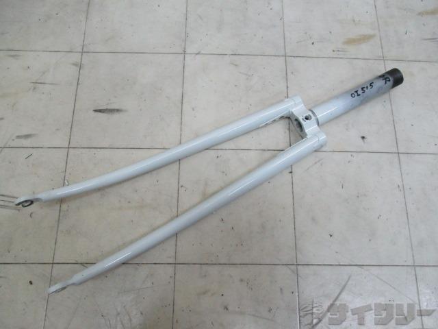 ピスト用フォーク 約145mm(実測)/約25.4mm(実測) ホワイト ※カットあり