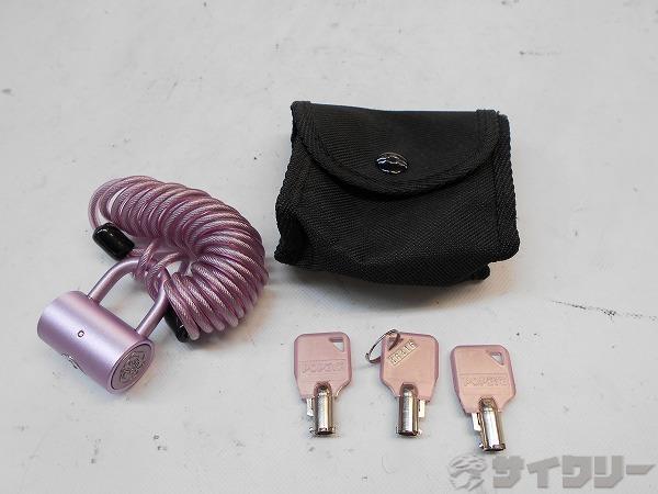 ワイヤーロック ピンク 鍵3本付属