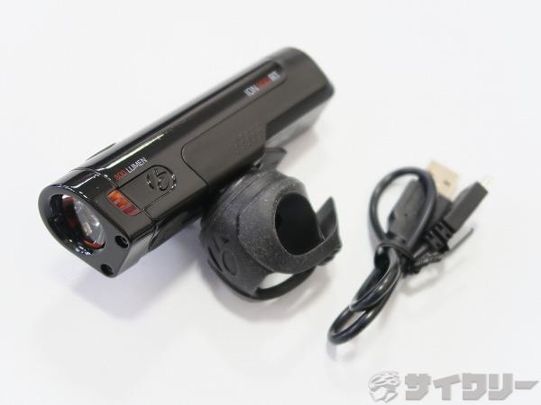 フロントライト ION800 RT USB充電式ヘッドライト ブラック
