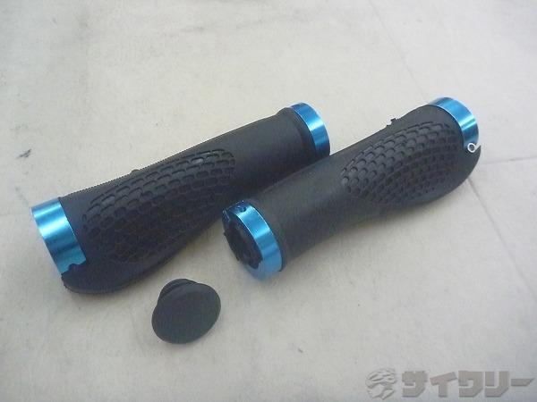欠品 ロックオングリップ ブラック/ブルー 130mm