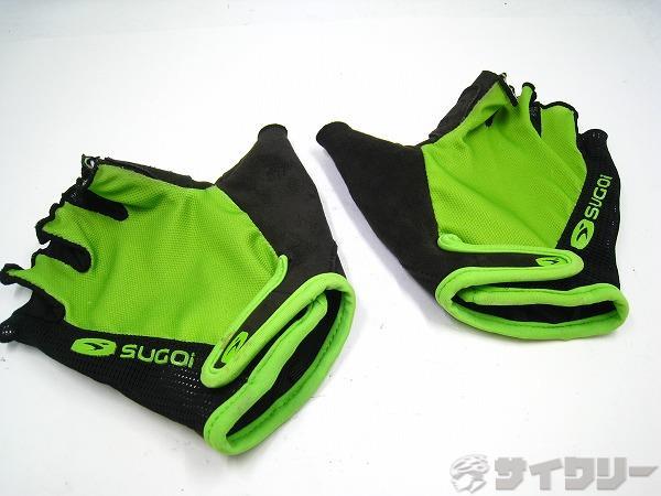 ハーフフィンガーグローブ Mサイズ グリーン/ブラック
