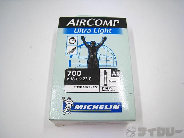 仏式チューブ AIRCOMP UltraLight 700x18-23c 仏式60mm