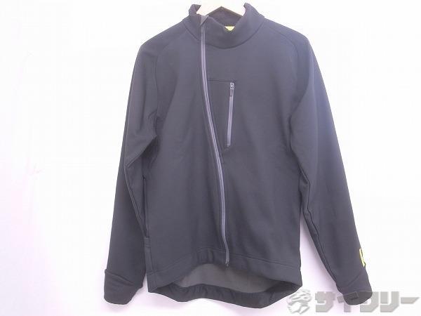 長袖ジャケット 裏起毛 Mサイズ ブラック