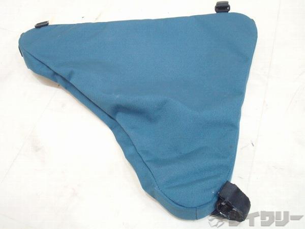 フレームバッグ  トライアングルバッグ Lサイズ ブルーブラック