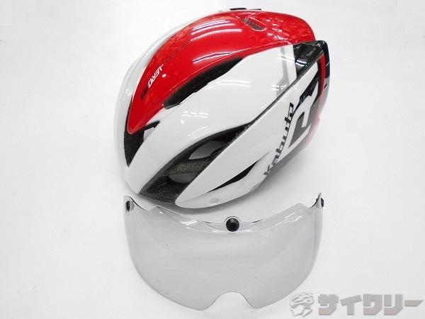 ヘルメット AERO-R1 ホワイト/レッド S/Mサイズ