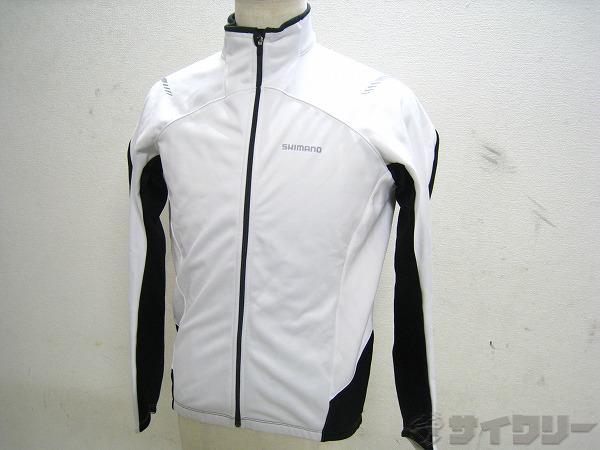 長袖ジャケット XL ホワイト/ブラック