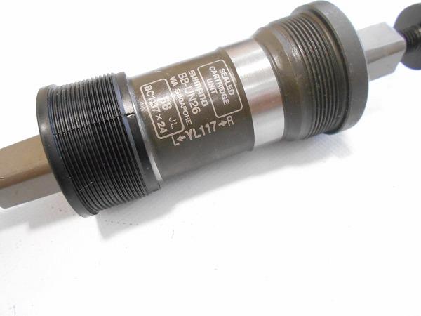 ボトムブラケット BB-UN26 YL117mm JIS/68mm