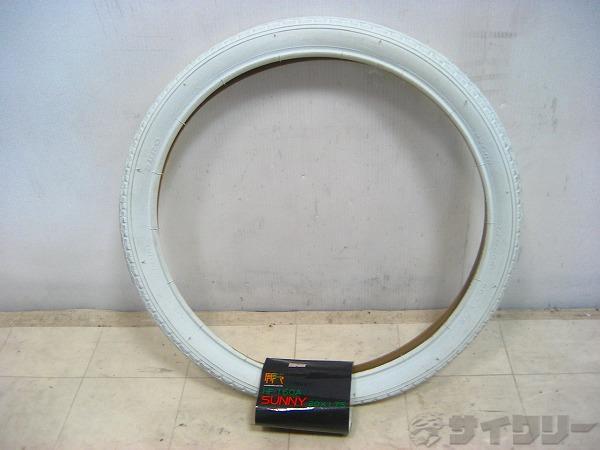 カラータイヤ ホワイト 20×1.75(406)