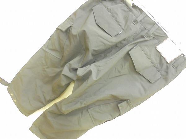 クロップドパンツ Lサイズ 裾ベルト付き ブラック