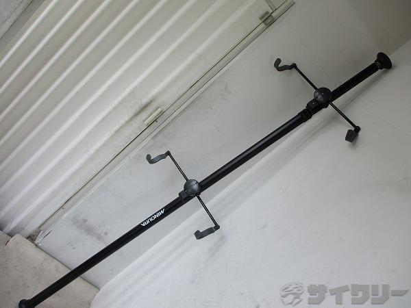 バイクタワー 2台用 突っ張り棒タイプ