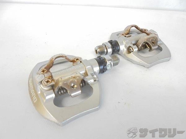 片面ビンディングペダル PD-A530 SPD シルバー ※軸ガタ、サビあり
