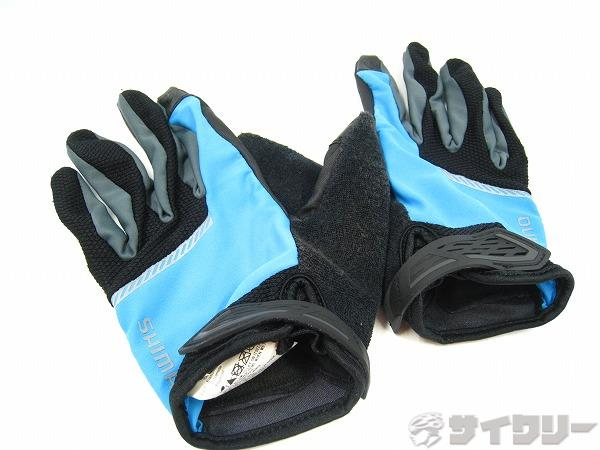フルフィンガーグローブ Lサイズ ブラック/ブルー