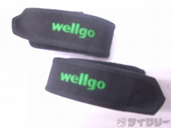 ペダルストラップ W-8 ブラック/グリーン