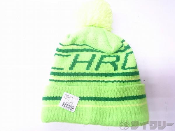 ニット帽 ネオングリーン