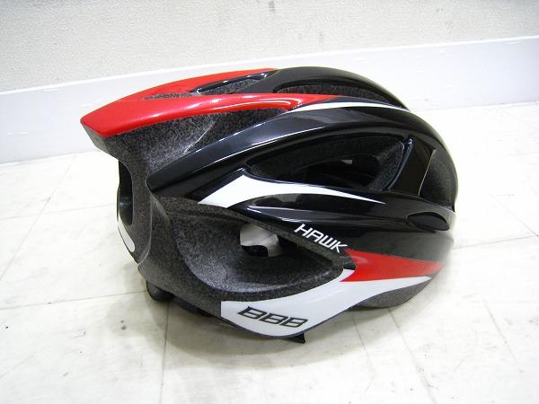 ヘルメット HAWK サイズ:L(58-62cm) ブラック/レッド